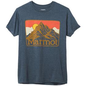 Marmot Mountain Peaks T-shirt Heren, blauw